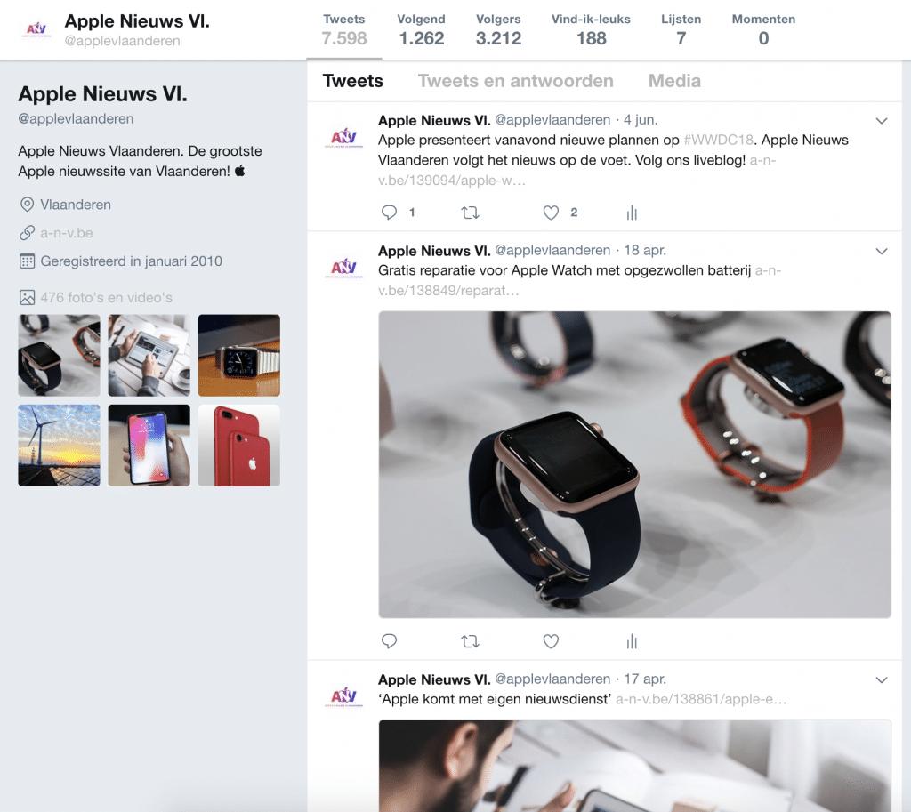 Apple-Nieuws-Vlaanderen-Twitter