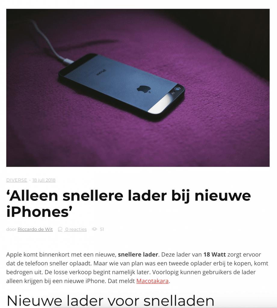 Bericht-Apple-Nieuws-Vlaanderen