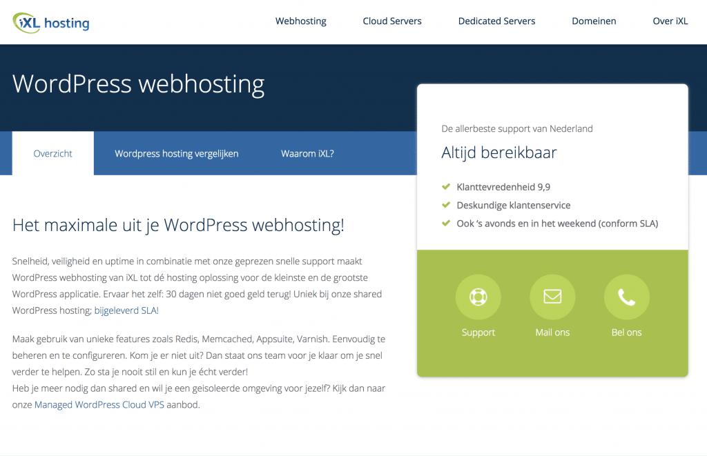 Wordpress-webhosting-iXL-Hosting